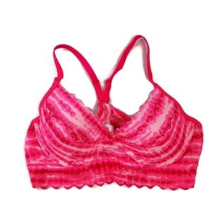Pink By Victoria Secret lace tiedye Racerback Bra